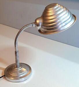 RARE 1940's Retro Aluminium industrial lamp - in very nice condition - working