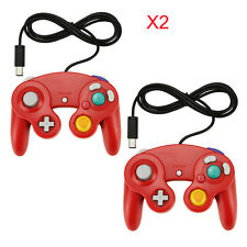 2x Red Wired Classic Controller Joypad Gamepad for Nintendo GameCube GC & Wii