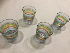 Rivera Dog Acrylic Glasses Set Of 4 New