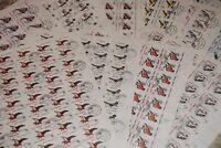 ROMANIA 500 forest BIRDS Sc 3812-3821, 50 x COMPLETE sets WHOLESALE CV$100