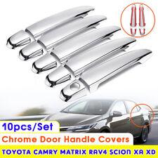 10Pcs ABS Chrome Door Handle Cover Trim Set  For Toyota Camry Corolla RAV4