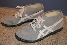 ASICS MENS SIZE 11 SUEDE GRAY BLACK WHITE SHOES HL807