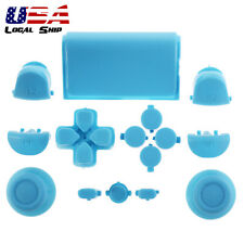 Solid Light Blue Full Set Buttons Dpad Replacement Parts for Sony PS4 Controller
