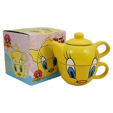 Tweety Pie Teapot and Cup Set Tea Pot Looney Tunes Cartoon TV Show Kitchen Mug