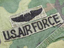 US Air Force USAF Vietnam PILOT WINGS THAI BADGED ERDL CAMO JUNGLE JACKET Vtg