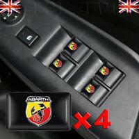 x4 ABARTH Stickers Interior Badges Emblem Fiat 500 595 695 Punto Panda Logo