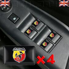x4 ABARTH Stickers Interior Badges Emblem Fits Fiat 500 595 695 Punto Panda Logo