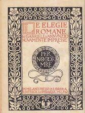 LE ELEGIE ROMANE Gabriele D'Annunzio 1905 Libreria Editrice Lombarda  *