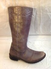 Girls Geox Brown Leather Boots Size 33