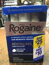 ROGAINE MEN'S FOAM (3 MONTH SUPPLY) 5% minoxidil topical 3 6 9 for men 2020