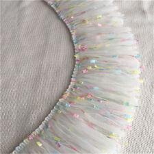 2 Yards Chiffon Tassel Lace Trim Fringe Ribbon DIY Garment Curtain 3.93'' Width