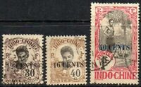 Indochina 1919 Asian Women Issue Surcharged + 12/30c & 16/40c Superb USED Stamps