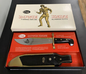 🔥 1981 CASE XX 1836 BOWIE KNIFE W/ SCABARD NEW IN BOX MINT FIXED BLADE