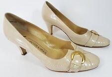Peter Kaiser cream leather mid heel shoes uk 3.5