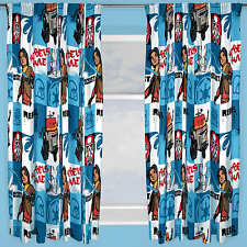 "DISNEY STAR WARS REBELS TAG CURTAINS 54"" INCH DROP READY MADE BOYS BEDROOM"