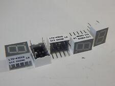 LITEON LTS-4301G 7 SEGMENT NUMERIC DISPLAY GREEN 10 mm PB FREE - LOT OF 5