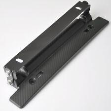 Adjustable Car License Plate Frame Holder Carbon Fiber Racing Number Plate Auto