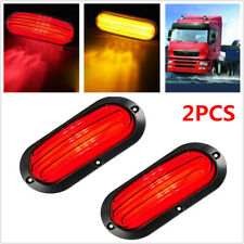 2PC 74LED Car Turn Reverse Truck Guiding Tail Lamp Rear Brake Light Red & Yellow