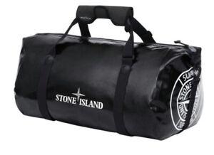 Supreme x Stone Island Ortlieb PVC Duffle Bag Black
