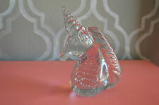 Crystal Unicorn Head Figurine Paperweight Clear Glass Horse Pegasus Desk Art