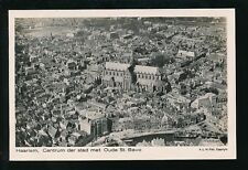 Netherlands Holland HAARLEM Aerial view c1930/50s? RP PPC by KLM