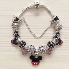 Disney Mickey Mouse Pandora Charm Bracelet & Charms Ideal Hen Bridesmaid Gift