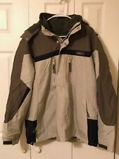 Men's Buckle BKE:Ice Khaki and Green Winter Ski Jacket w/ Removable Liner (Med)