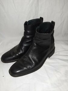 Cole Haan Mens black leather slip on ankle boots size US 10 UK 9