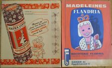 Chicoree & Biscuits - Pair 1940s French Advertising Book Covers