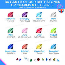 CRYSTAL Birthstone Floating Charm Charms Birth Stone Month Living Memory Locket