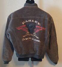 Harley Davidson Mens XL Leather Jacket suede Taupe Beautiful Jacket #9405