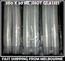 BULK LOT 300 X CLEAR DISPOSABLE 30 ML PLASTIC SHOT GLASSES 30 ML AUSSIE SELLER