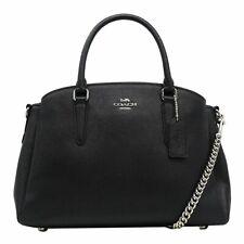New Authentic Coach F28976Leather Sage Carryall Handbag Purse Silver Black