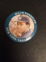 VINTAGE 1984 FUN FOODS Willie Randolph New York Yankees PIN BUTTON # 20