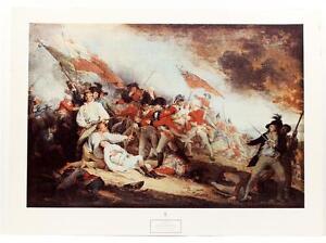 1967 John Trumbull Battle of Bunker Hill Revolutionary War LITHOGRAPH #238T