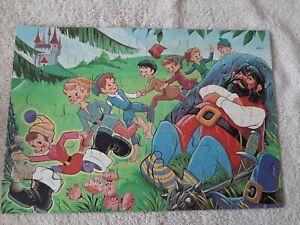MB Storybook series #4987 vintage 1978 60 piece puzzle Tom Thumb