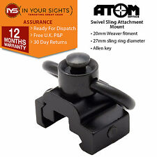 Quick detach rifle sling swivel mount / quick release airsoft gun sling mount