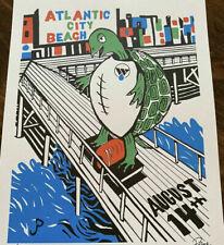 Phish Poster WW Foundation Atlantic City 8/14/21 S/N Jim Pollock Turtles