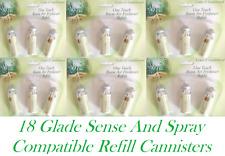 18 X Air Freshener Refills Glade Sense And Spray Cedar Sandalwood Refill