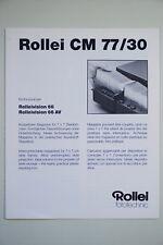 Rollei CM 77/30 für Rolleivision 66, 66 AV, 4 Seiten, 4 languages