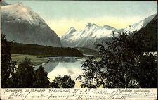 Romsdalen Norwegen Norge Vestlandet alte Litho-AK 1903 gelaufen nach Harsefeld