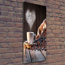 Wand-Bild Kunstdruck aus Acryl-Glas Hochformat 50x125 Tasse Kaffee