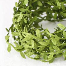 10M Green Artificial Leaves Vine Home Decor Foliage Wreath Fake Flowers Garland