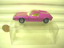 LESNEY MATCHBOX MB5A Pink LOTUS EUROPA with Silver UNPainted Base MINT in PvcBox