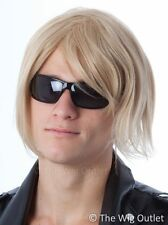 MENS BLONDE LONG WIG Keith Urban Brad Pitt Surfer Costume 70s 80s 90s Party Wig