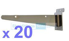 """20 x Slatwall Shelf Bracket 12"""" (300mm) Glass Wood Shelving Heavy Duty"""