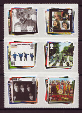 GREAT BRITAIN 2007 BEATLES SET OF 6 IN PAIRS  UNMOUNTED MINT, MNH