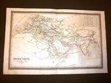Carta geografica mappa Dufour del 1840 Il mondo conosciuto