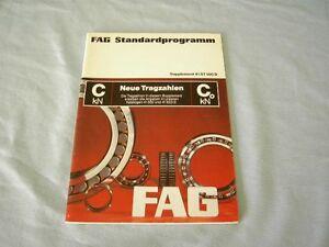 FAG Standardprogramm Supplement 41 ST 500 D Neue Tragzahlen