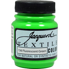 Jacquard Textile Color #156 FLUORESCENT GREEN 2.25oz Fabric Ink Airbrush Paint
